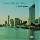 Photo of Brisbane skyline filtered green with text saying Engagement Design Training in Brisbane and the IAP2 logo